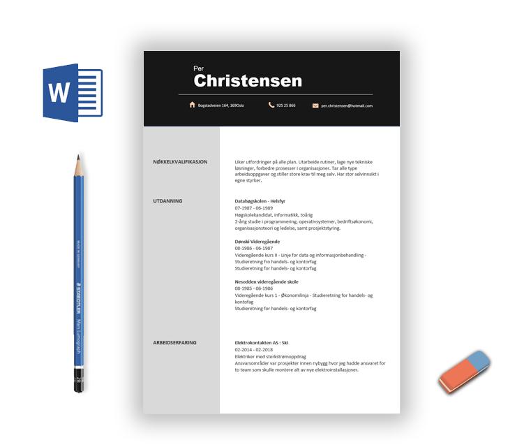 CV-Hjelpen - Oppsett av CV