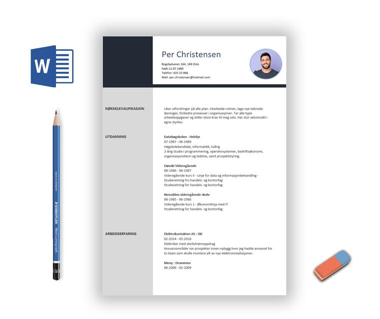 Oppsett av CV fra CV-Hjelpen